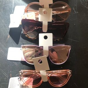 Four new F21 cat-eye sunglasses with tags